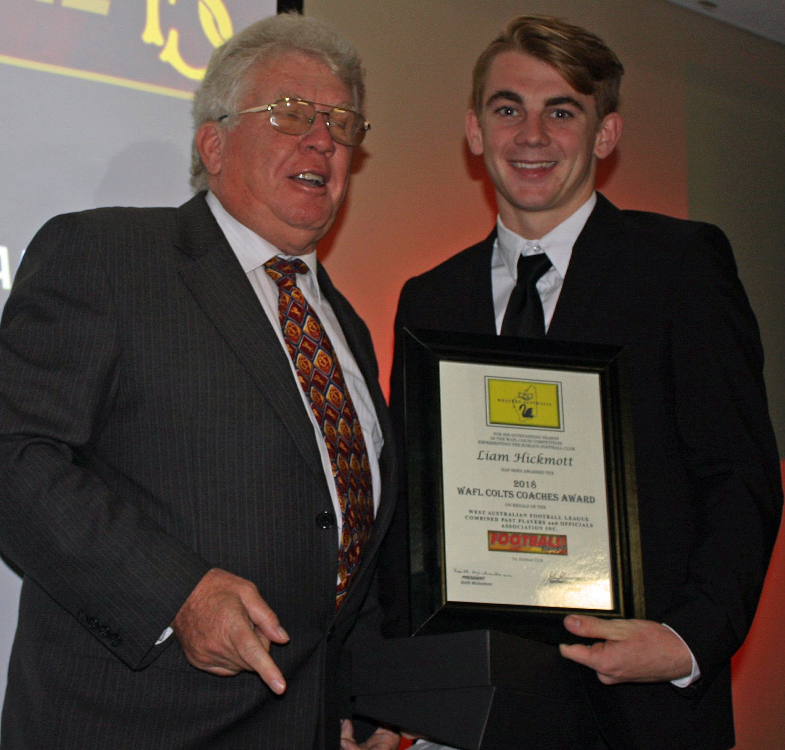 2018 WAFL Colts Award Hickmott